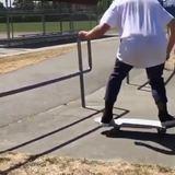 Unique skateboard trick